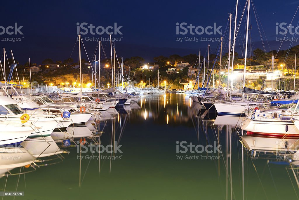 marina at night royalty-free stock photo