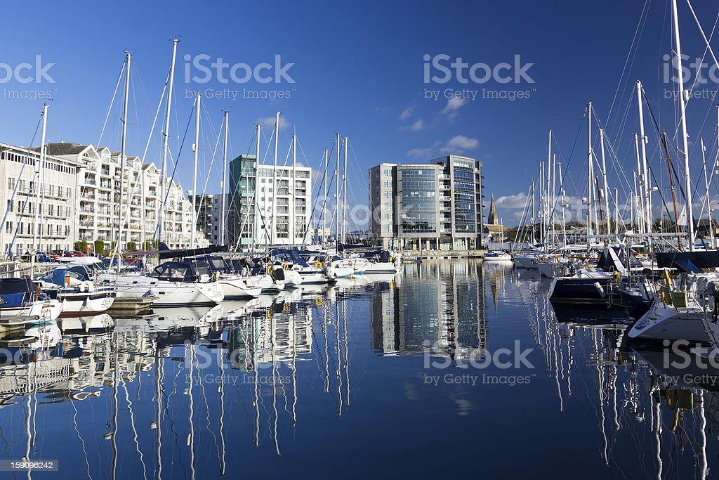 Marina at Plymouth stock photo