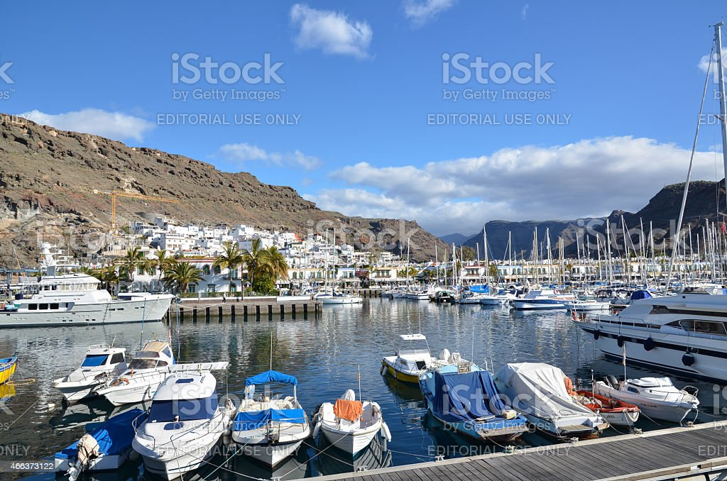 Marina at Puerto de Mogan, Gran Canaria stock photo