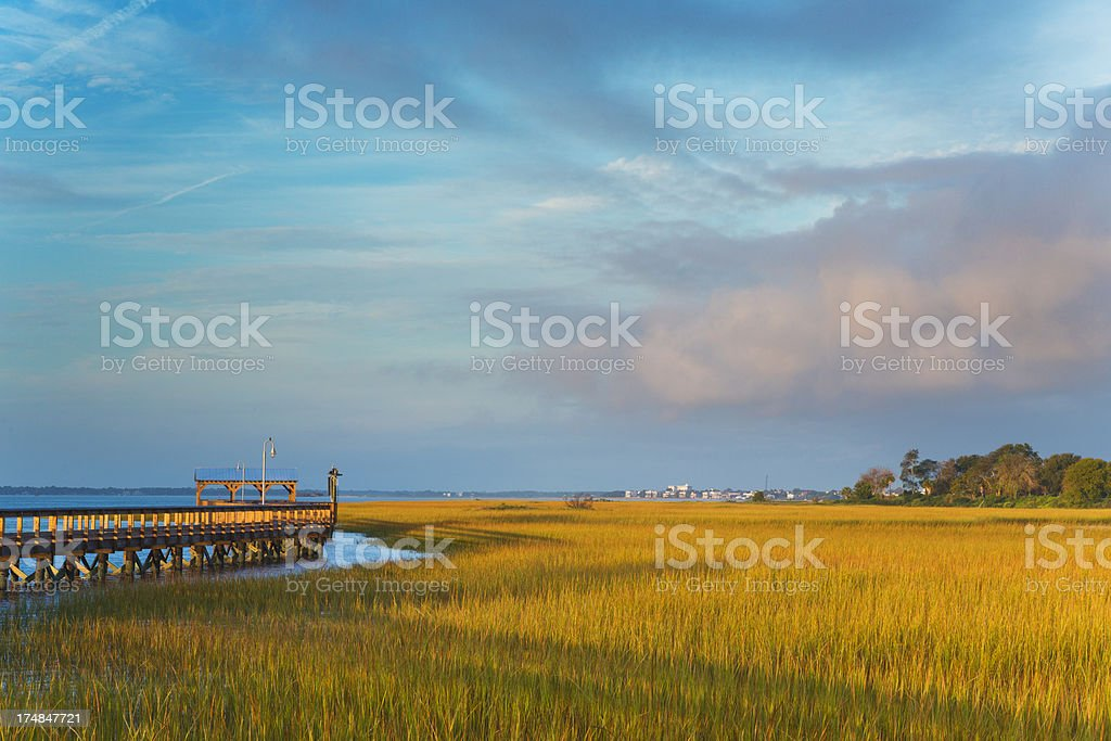 Marina at Shem Creek, Charleston stock photo