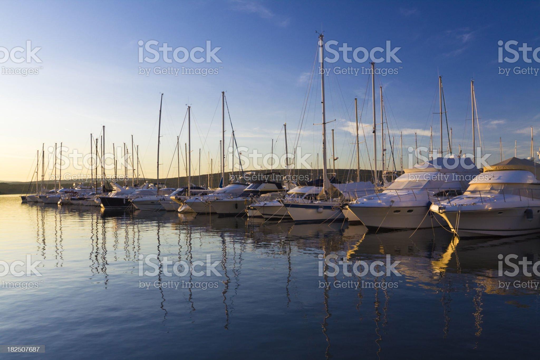 marina at sunset royalty-free stock photo