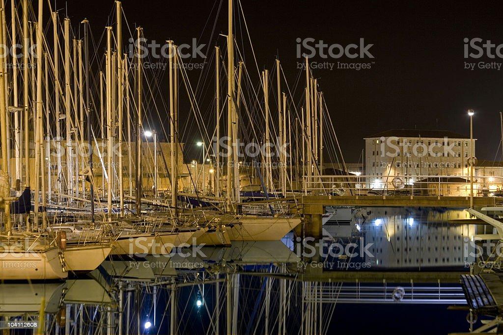 Marina at Trieste royalty-free stock photo