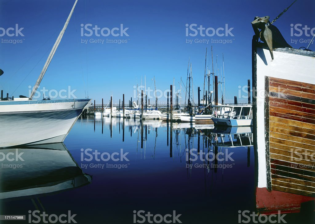 marina, Bandon, Oregon stock photo