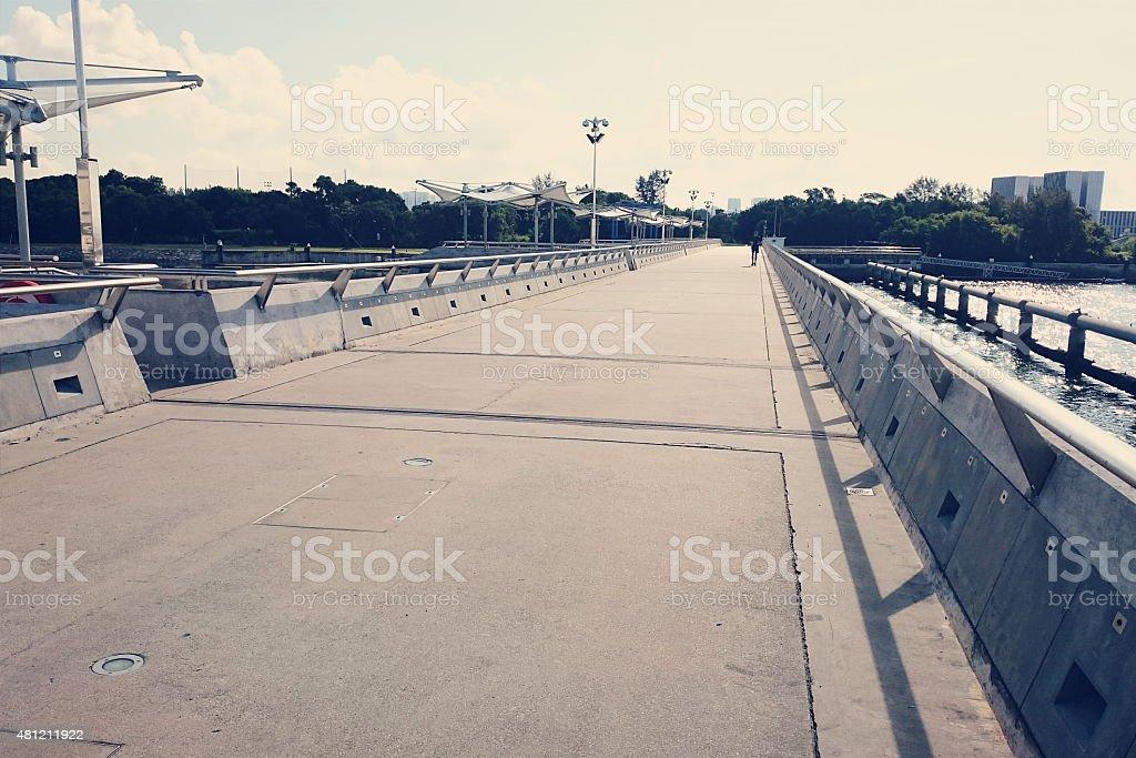 Marina Barrage Bridge stock photo