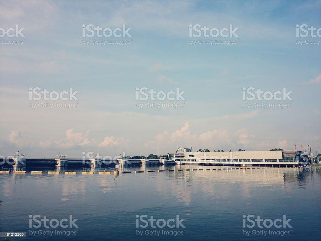 Marina Barrage stock photo