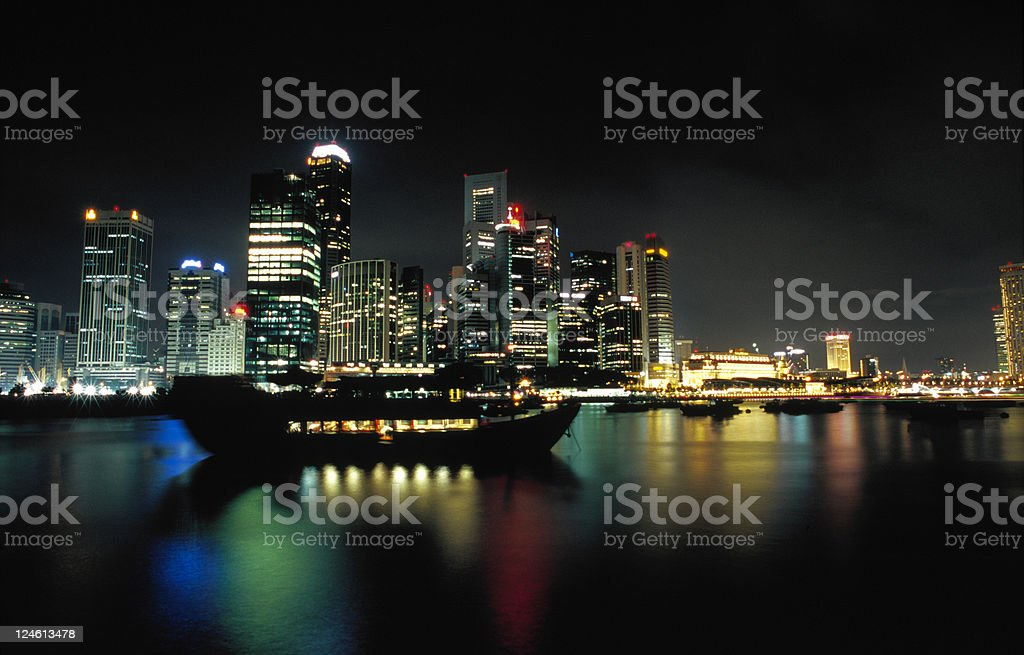 Marina Bay in Singapore royalty-free stock photo