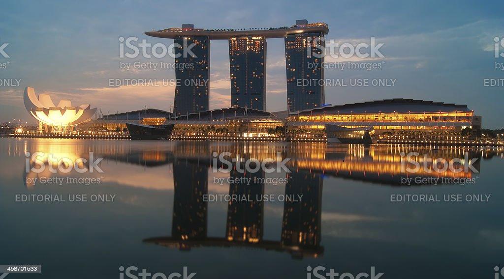 Marina Bay Sands at sunrise royalty-free stock photo