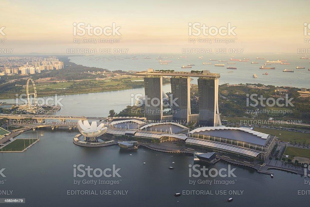 Marina Bay Sands from 1-Altitude royalty-free stock photo