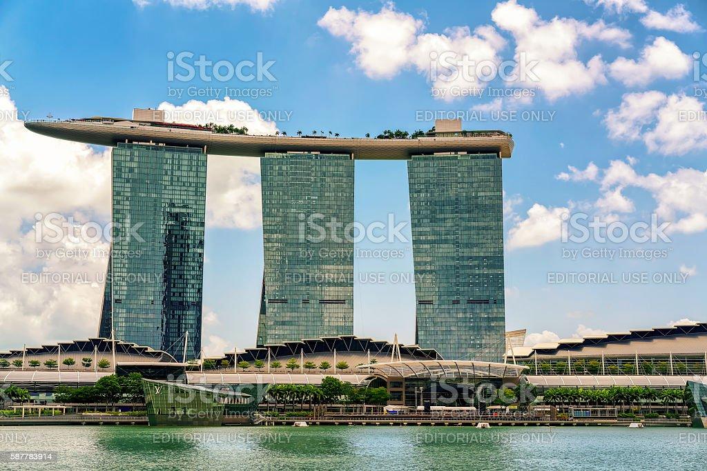 Marina Bay Sands Hotel and Casino stock photo