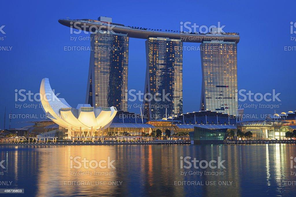 Marina Bay Sands hotel and casino, Singapore stock photo