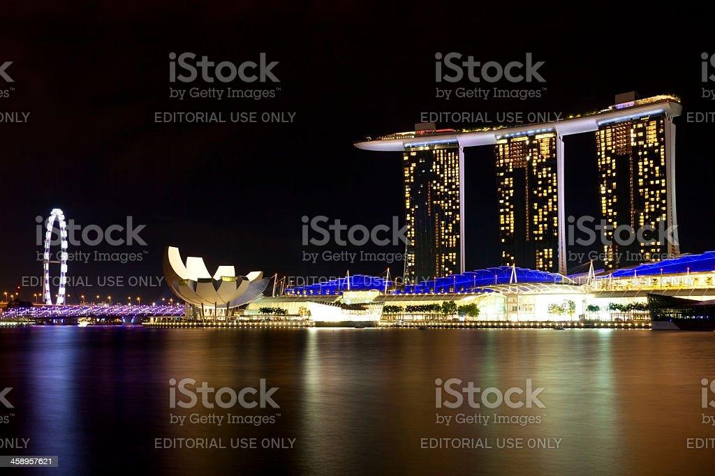 Marina Bay Sands hotel and casino, Singapore royalty-free stock photo