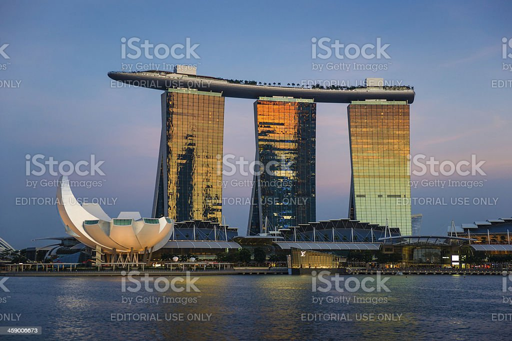 Marina Bay Sands Hotel and Casino, Singapore stock photo