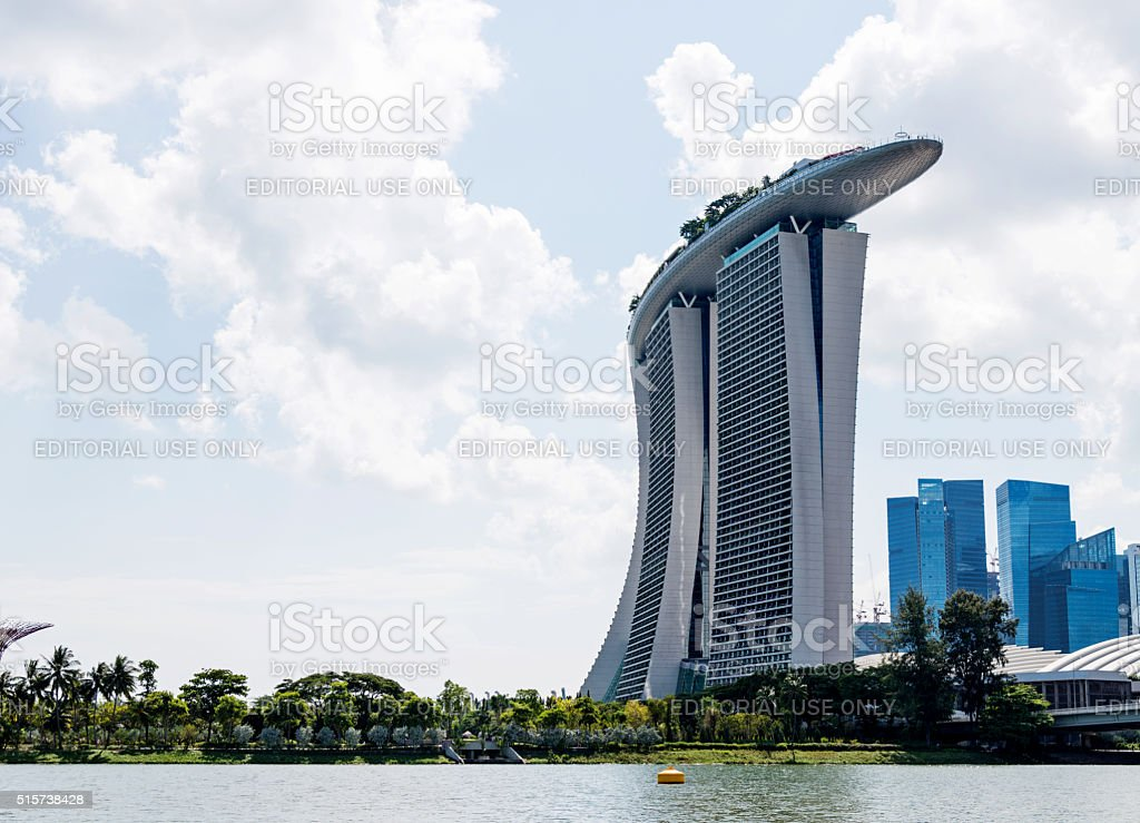 Marina Bay Sands Hotel in Singapore stock photo