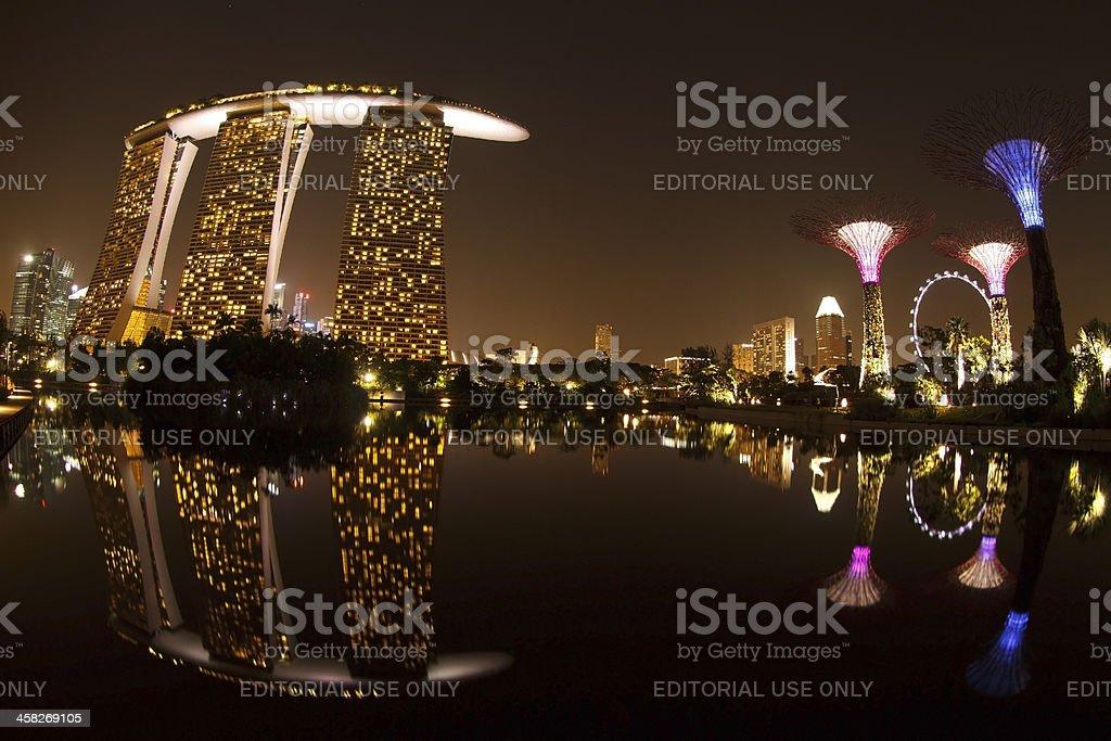 Marina Bay Sands Hotel, Singapore royalty-free stock photo