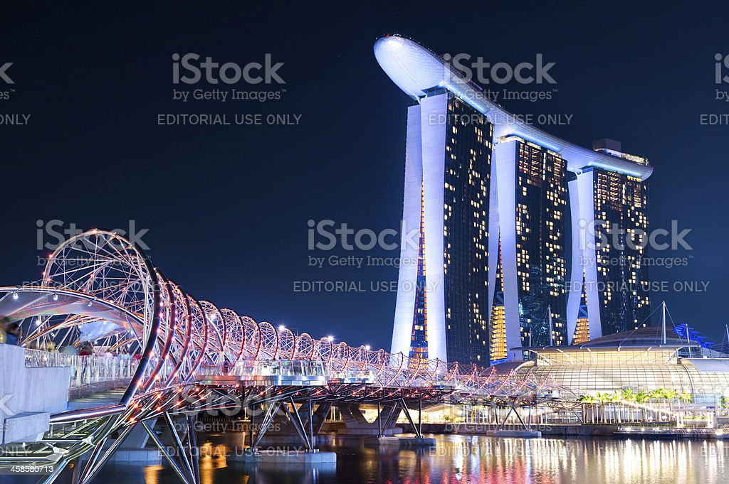 Marina Bay Sands Hotel, Singapore stock photo