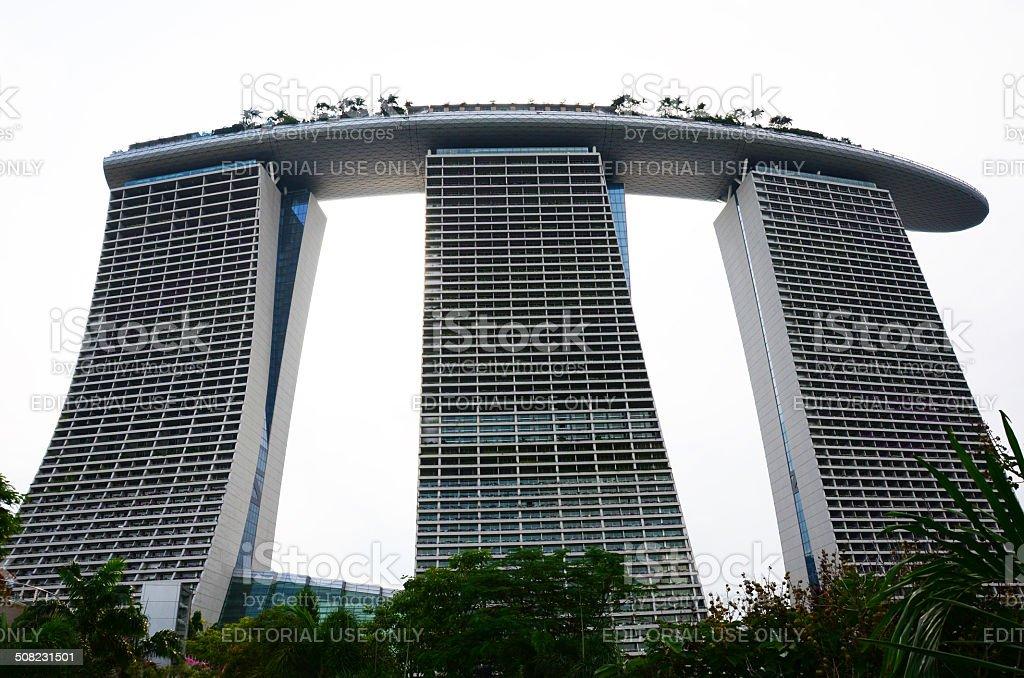 Marina Bay Sands Hotel, Singapore stock photo