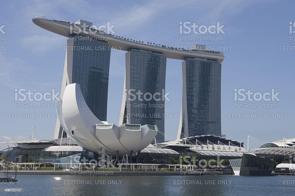 Marina Bay Sands in Singapore royalty-free stock photo