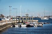 Marina bay with boats
