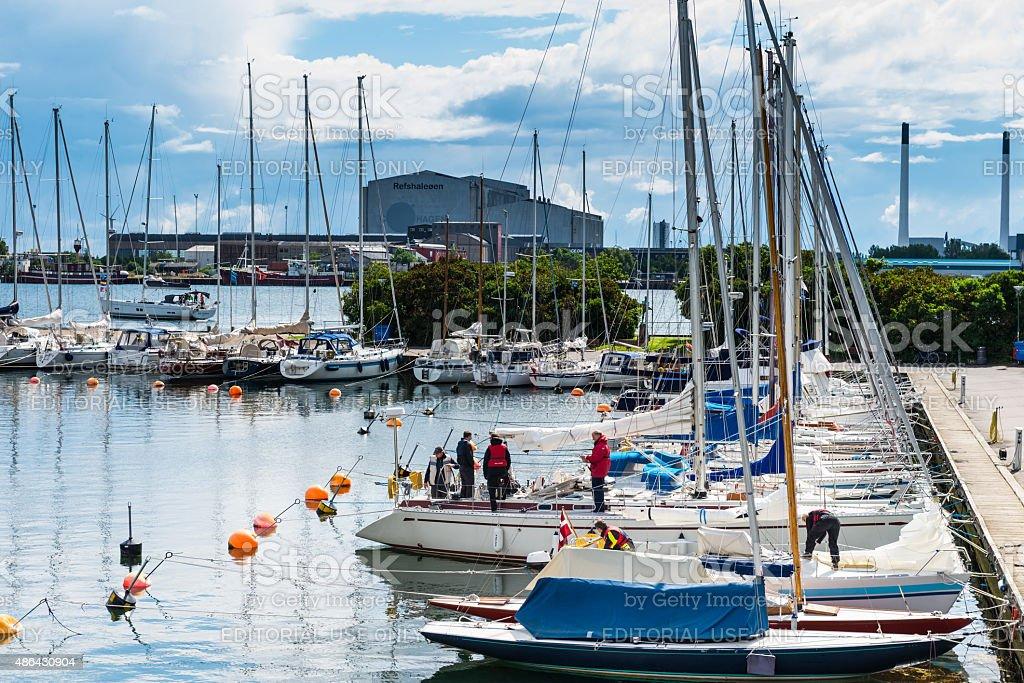 Marina & Boats in Copenhagen stock photo