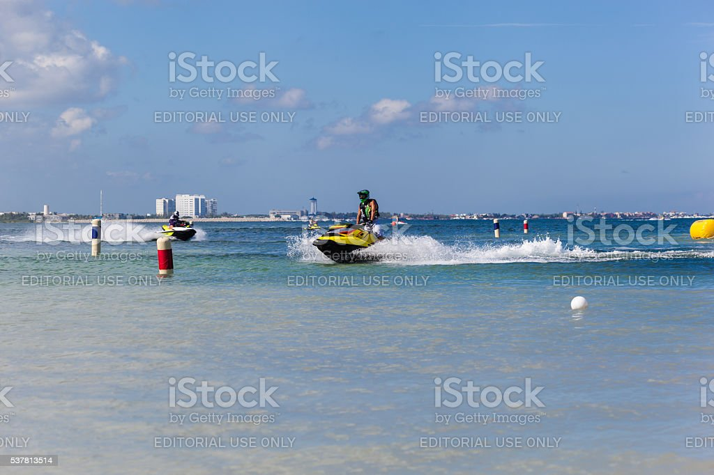 Marina Chac-Chi, 1st Carrera Nacional Jet Surf, Cancun stock photo