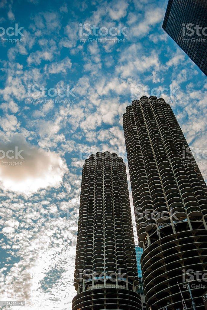 Marina City building Chicago stock photo