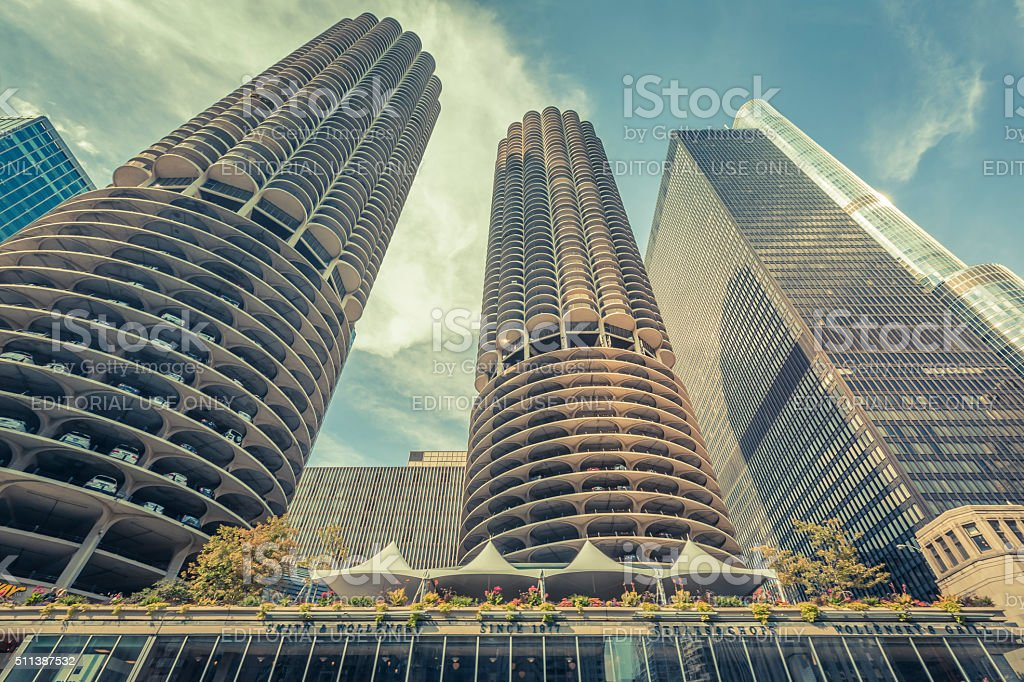 Marina city car park stock photo