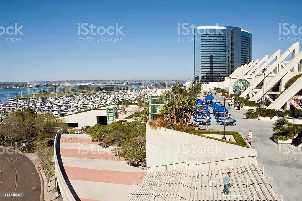 Marina & Convention Center San Diego royalty-free stock photo