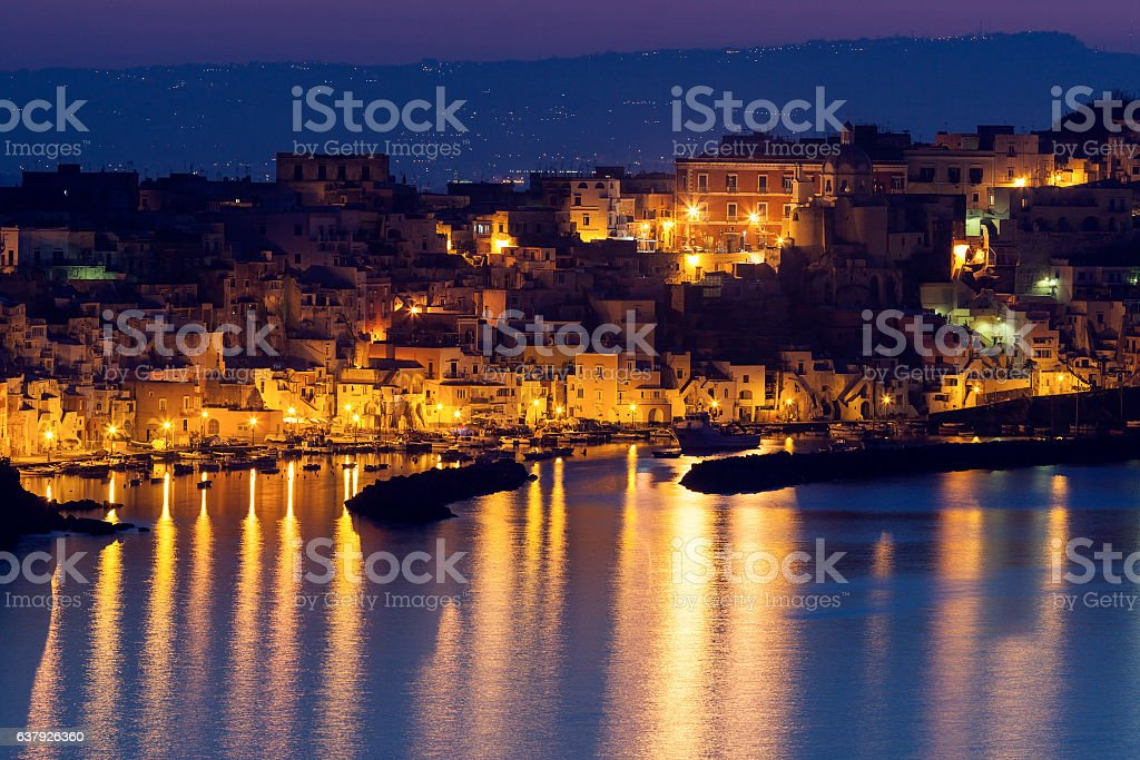 Marina Corricella on Procida Island stock photo