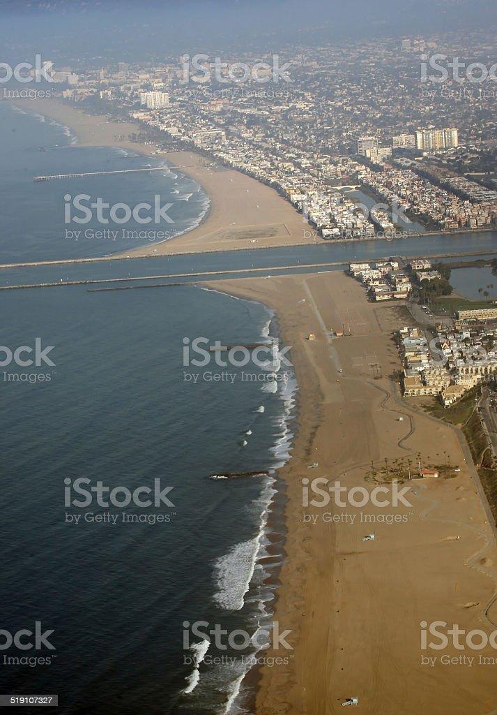 Marina del rey beach stock photo
