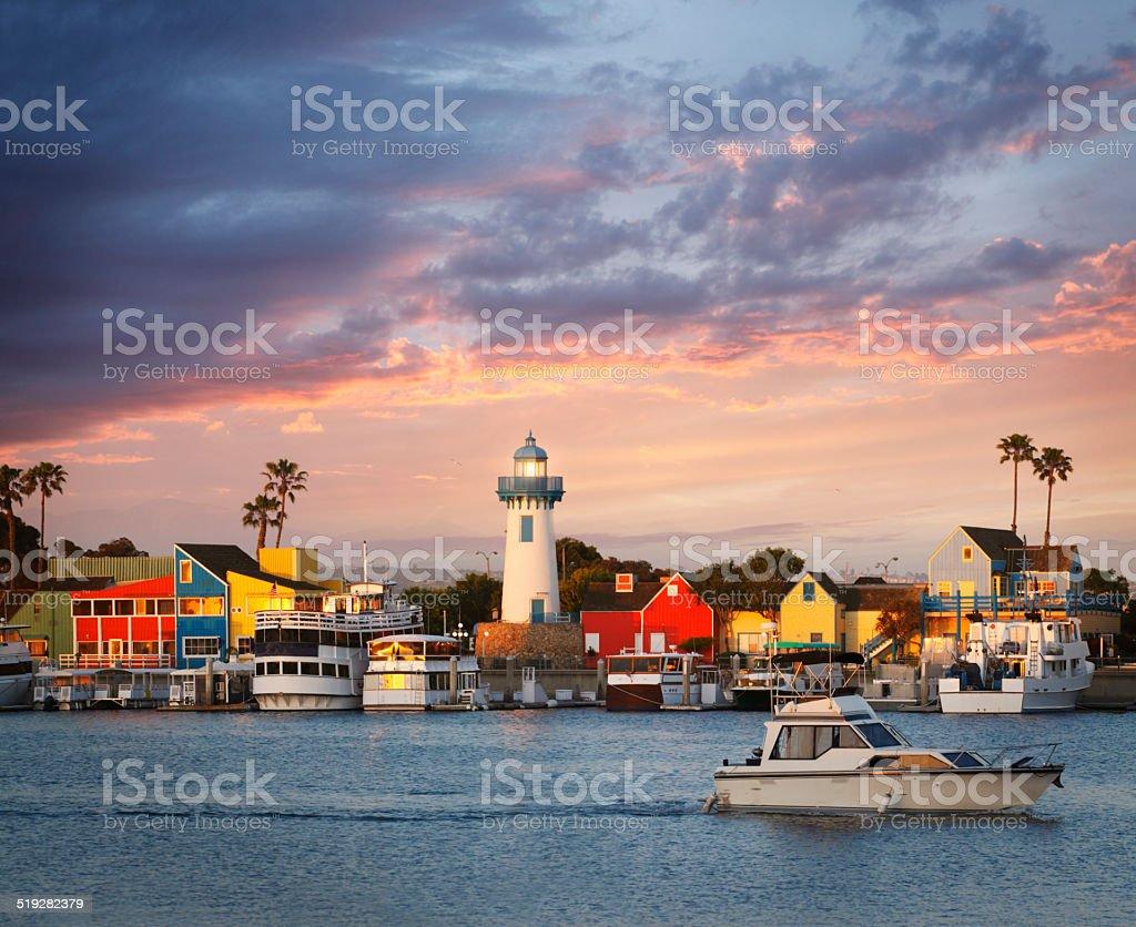 Marina del Rey in Los Angeles stock photo