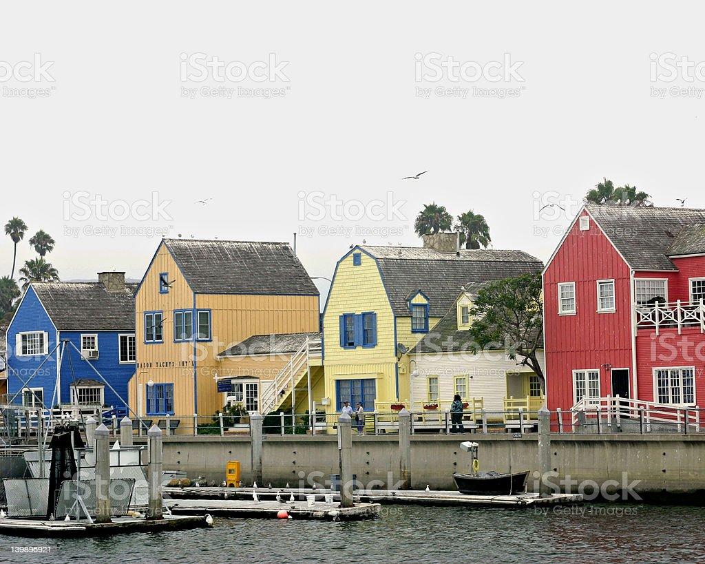 Marina Del Rey Village stock photo