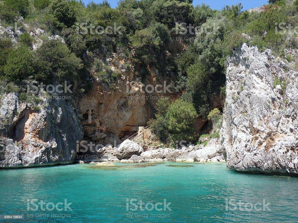 Marina di Camerota - Cala degli Infreschi stock photo