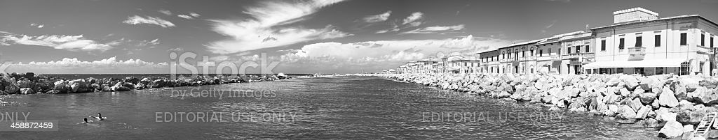 Marina di Pisa - Panorama royalty-free stock photo