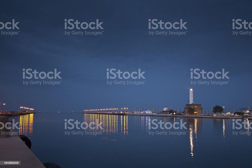 Marina di Ravenna harbor Lighthouse royalty-free stock photo