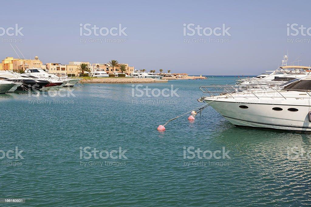 Marina. El Gouna, Egypt royalty-free stock photo