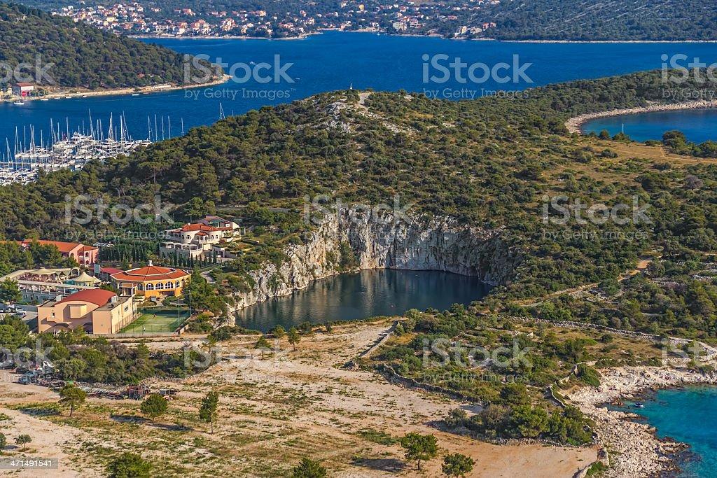 Marina Frapa lake royalty-free stock photo