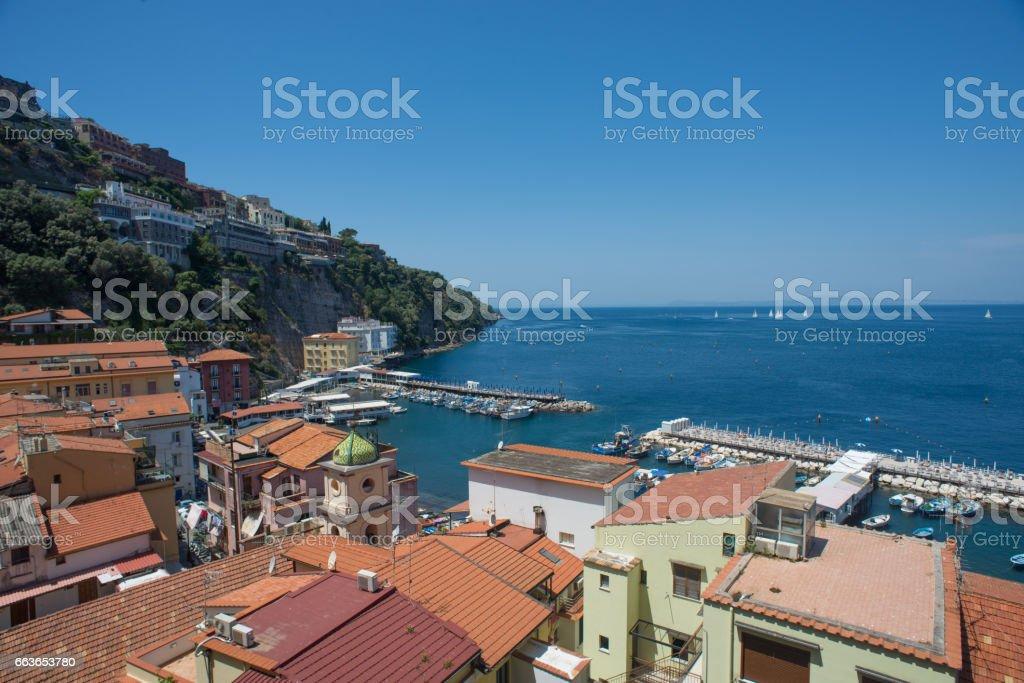 Marina Grande in Sorrento, Italy stock photo