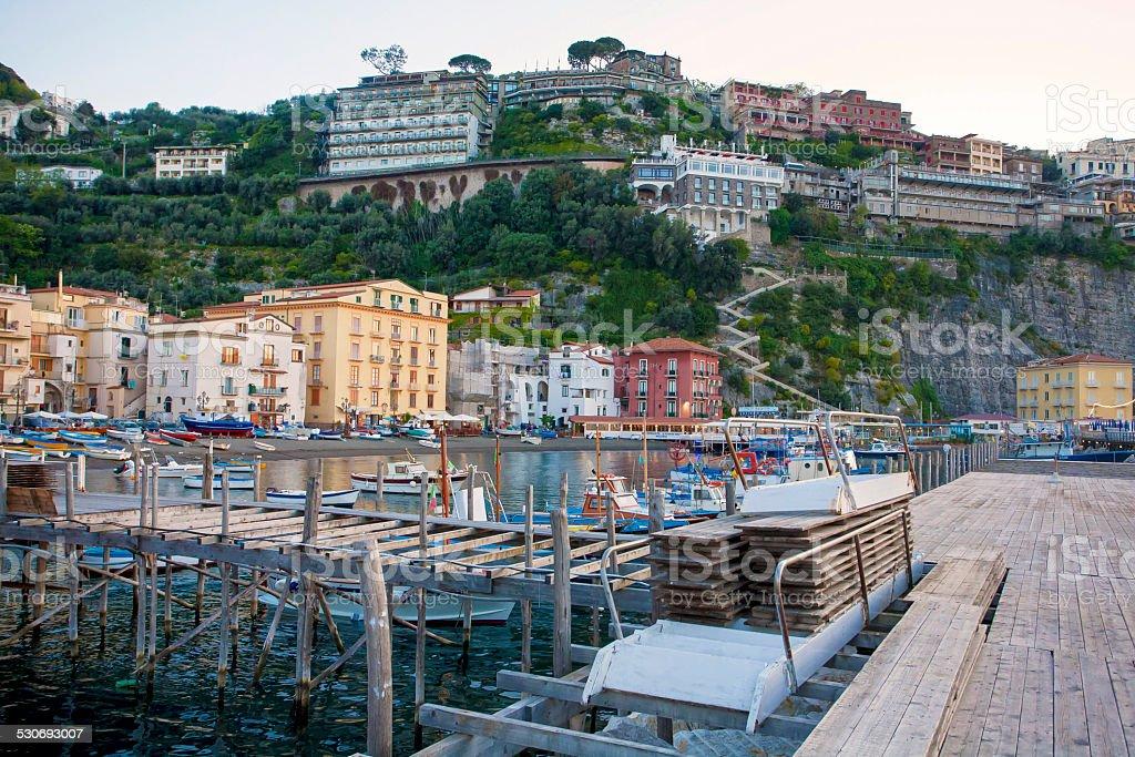 Marina Grande (big), Sorrento, Italy stock photo