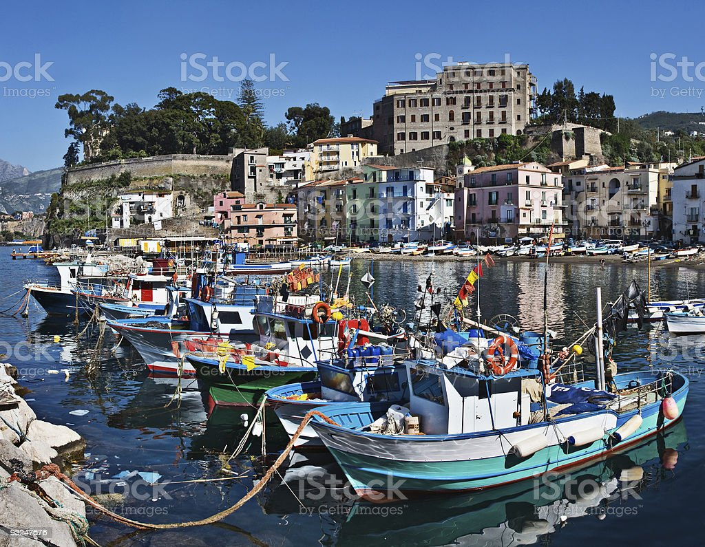 Marina Grande, Sorrento, Italy stock photo