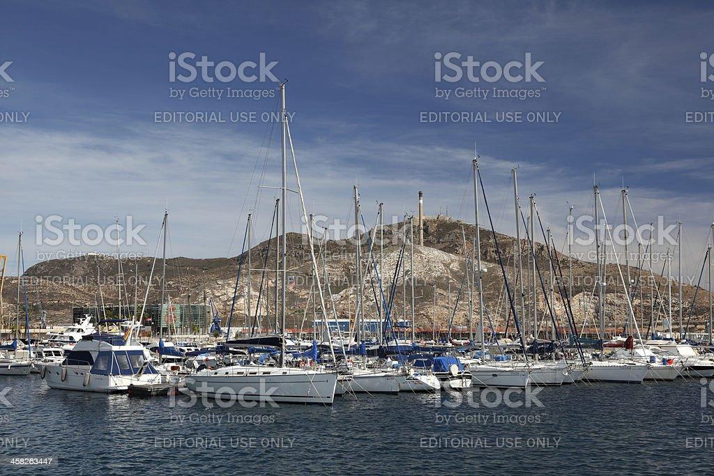 Marina in Cartagena, Spain royalty-free stock photo