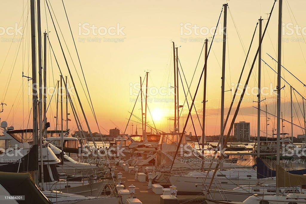 Marina in Charleston royalty-free stock photo