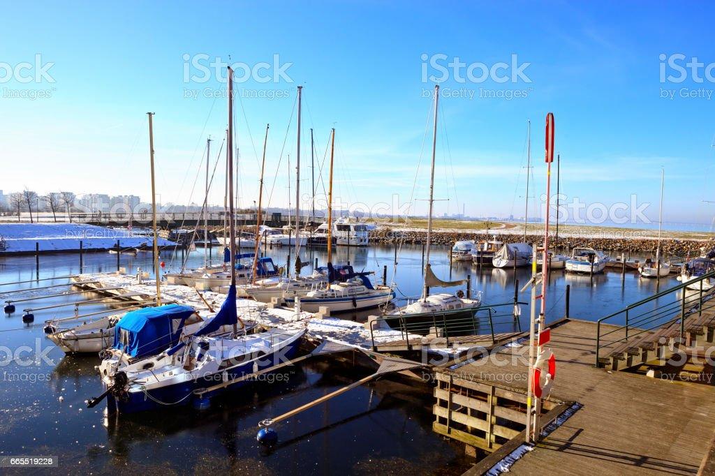Marina in Helsingborg stock photo