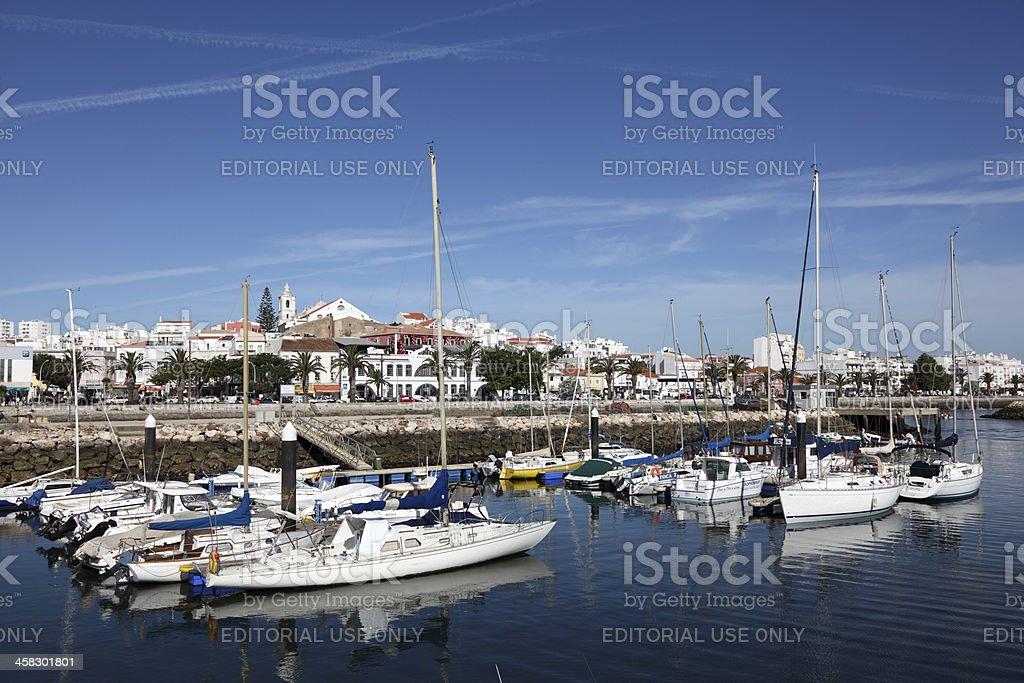 Marina in Lagos, Portugal royalty-free stock photo