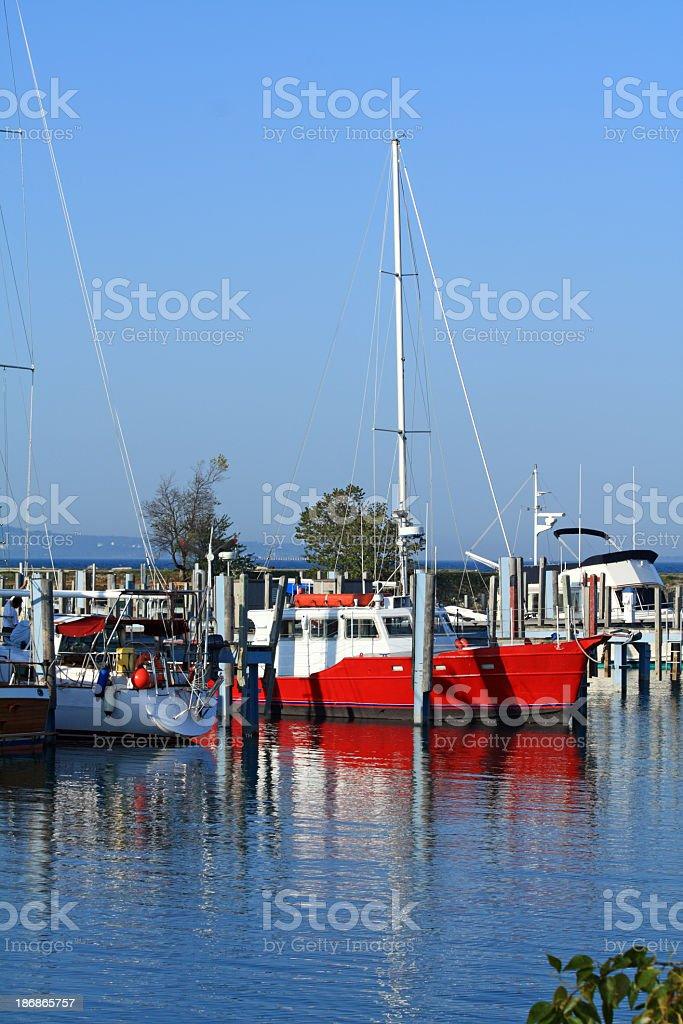 Marina in Mackinaw City, MI. royalty-free stock photo
