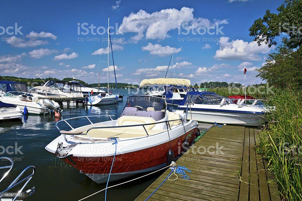 Marina in Mazury, Poland royalty-free stock photo