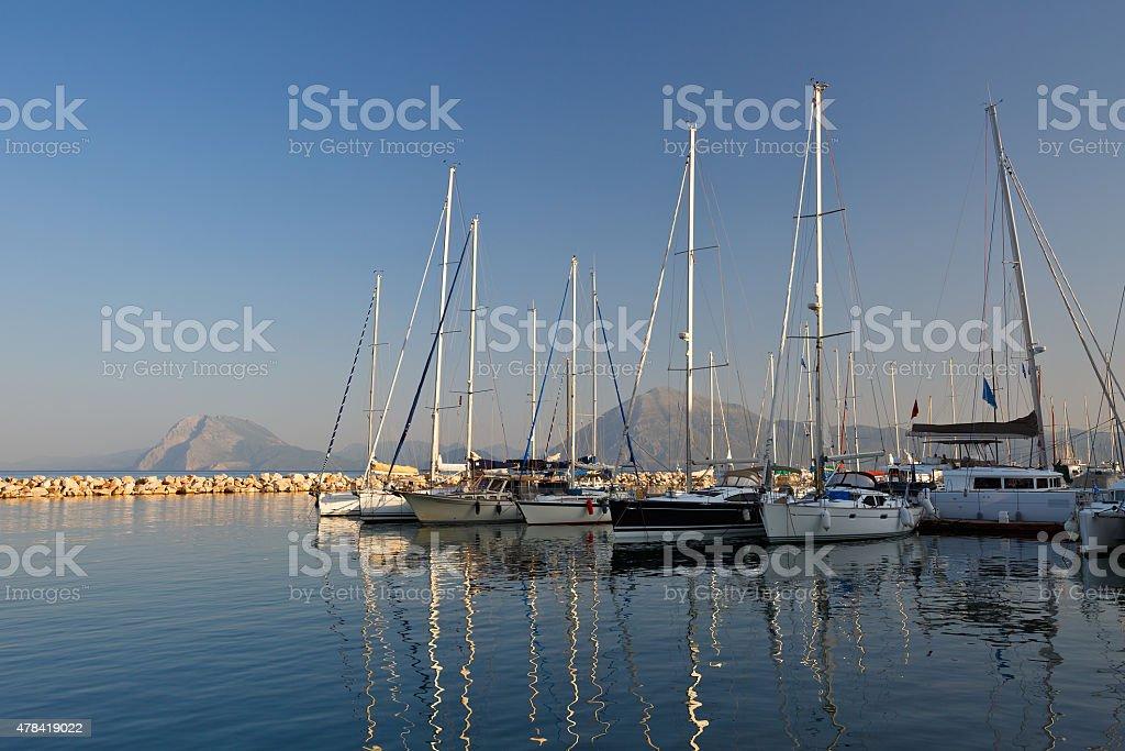 Marina in Patras. stock photo
