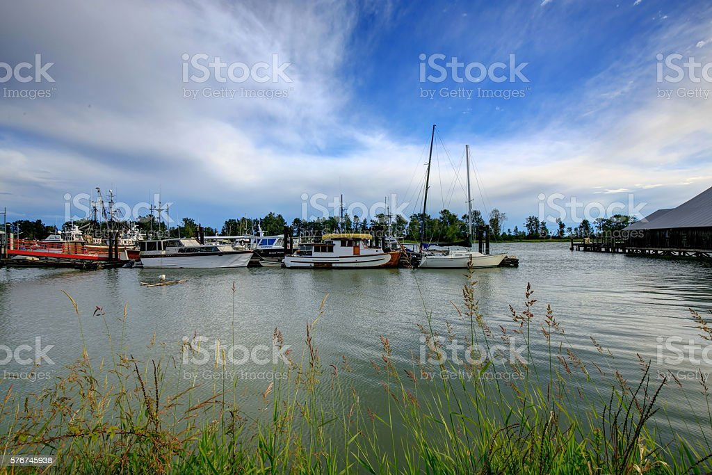 Marina in Richmond, BC, Canada stock photo