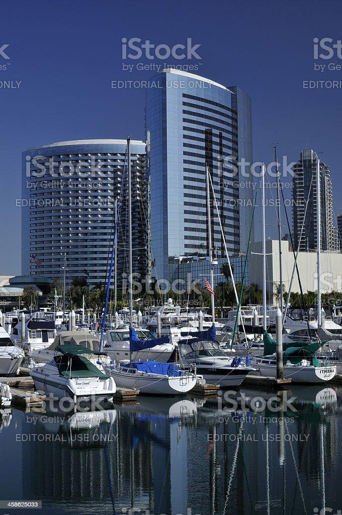 Marina in San Diego royalty-free stock photo