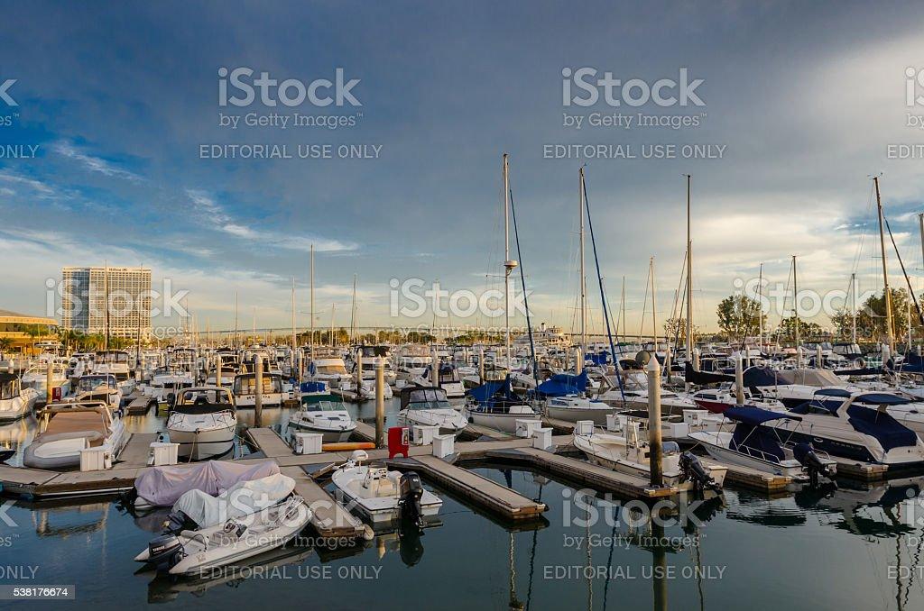 Marina in San Diego stock photo