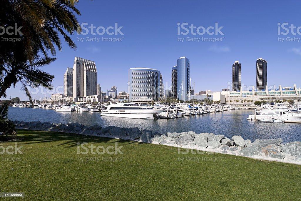 Marina in San Diego, USA royalty-free stock photo